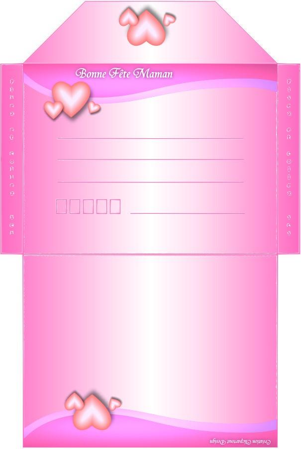 Häufig carte et enveloppe à imprimer pour souhaiter la fete des meres YV23