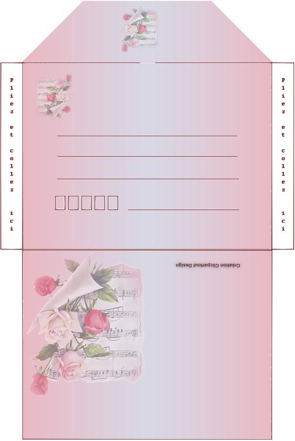 Super carte et enveloppe à imprimer pour souhaiter la fete des meres QA61