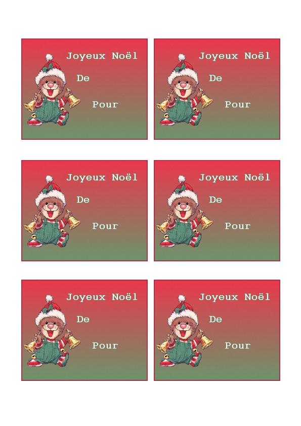 Etiquettes pour faire des cadeaux de noel imprimer sur du bristol - Etiquettes de noel a imprimer ...