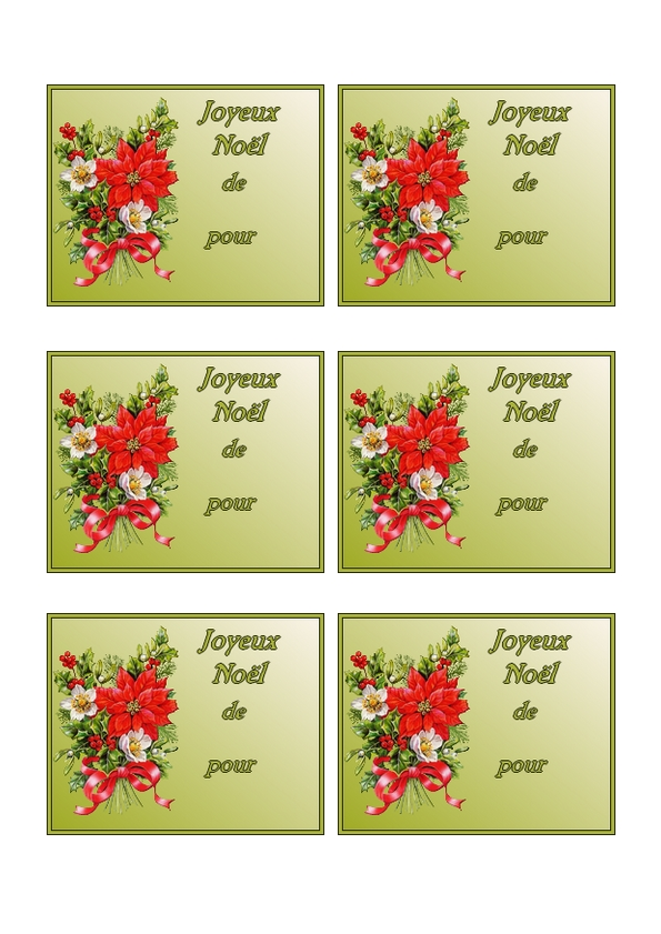 Etiquettes pour faire des cadeaux de noel imprimer sur du bristol - Vente des cadeaux de noel ...