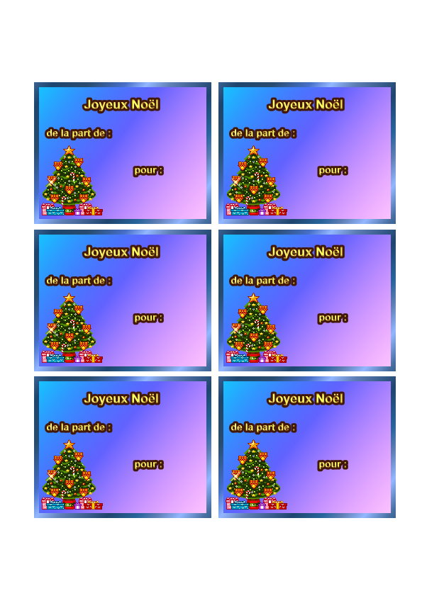 Etiquettes pour faire des cadeaux de noel imprimer sur du - Petit cadeau de table pour noel ...