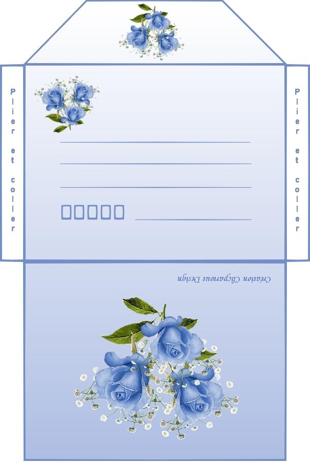 enveloppe rose bleue