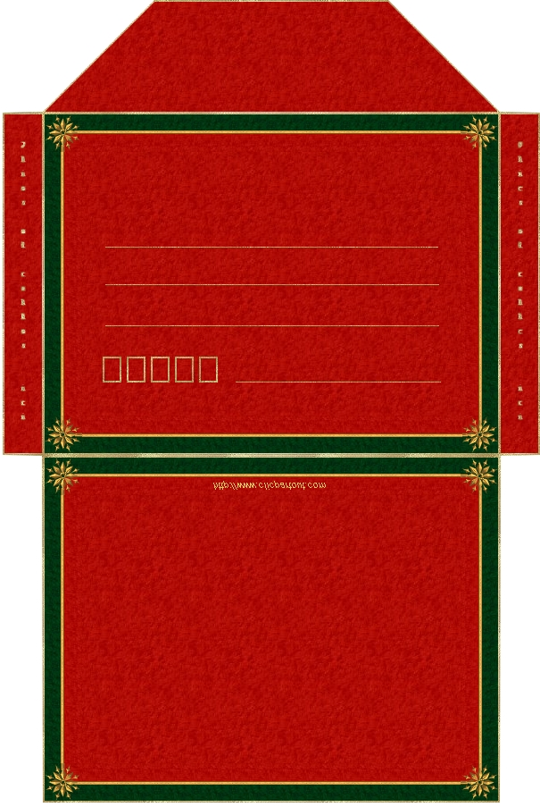 enveloppe-noel-rouge vert