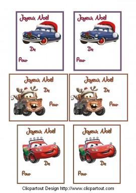 etiquettes-noel-imprimer-cars