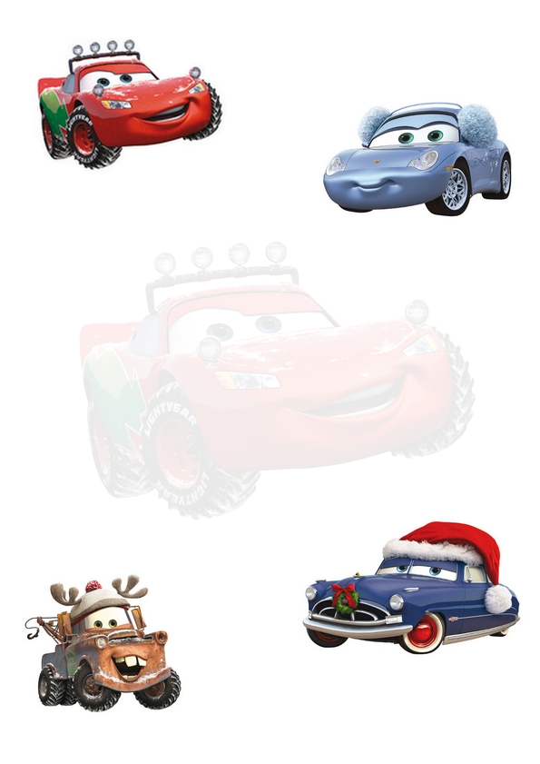 noel-papier-imprimer-cars