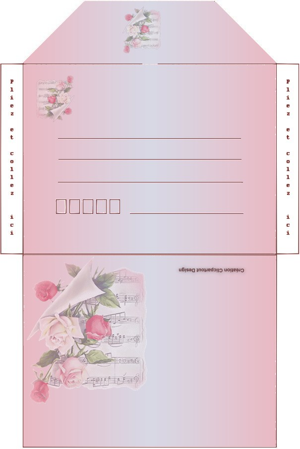 Fabuleux carte et enveloppe à imprimer pour souhaiter la fete des meres OD56